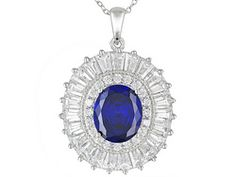 Bella Luce (R) Esotica (Tm) 15.71ctw Rhodium Plated Sterling Silver Pendant With Chain