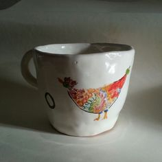 Milk cup with chicken