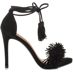 Steve Madden Women's Sassey - Black Suede ($130) ❤ liked on Polyvore featuring shoes, black, steve madden, kohl shoes, synthetic shoes, tassel shoes and steve-madden shoes