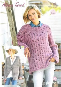0748bb954e0d Ladies Tops knitted with Vogue DK - King Cole