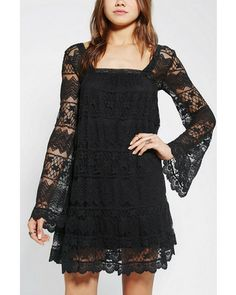 Kimchi & Blue Kimchi Blue Buttercup Lace Bell-Sleeve Dress from Urban Outfitters Bell Sleeve Dress, Bell Sleeves, Sleeved Dress, Lace Dress, Dress Up, Boho Fashion, Womens Fashion, Fashion Ideas, Diy Schmuck