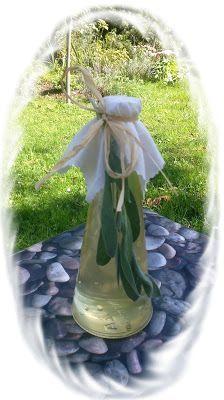Moje tvořeníčko...: Šalvějový sirup Garden Sculpture, Homemade, Table Decorations, Drinks, Outdoor Decor, Med, Home Decor, Syrup, Red Peppers