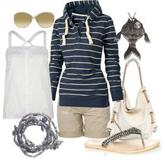 A comfy, transitional outfit from warm to cool weather:)