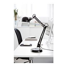 IKEA - FORSÅ, Work lamp, You can easily direct the light where you want it because the lamp arm and head are adjustable.Provides a directed light that is great for reading.