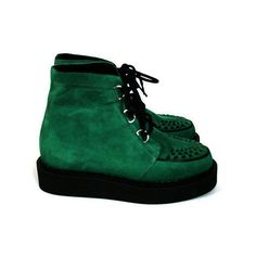 photo ❤ liked on Polyvore featuring shoes, boots, ankle booties, creepers, zapatos and creeper boots