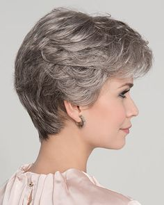 Apart Mono Wig is a refined classic style, from the Hair Power Collection by Ellen Wille. With soft feminine layers on top and a tapered neckline, this ready-to-wear style will look and feel like natural hair. Short Grey Hair, Short Hair With Layers, Short Wavy, Short Hair Cuts For Women, Bob Haircut For Fine Hair, Haircut For Older Women, Short Haircut, Hairstyles Over 50, Cute Hairstyles For Short Hair