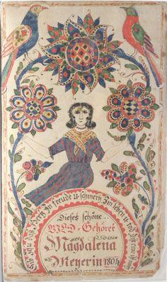 Fraktur Bookplate by Magdalena Moyer- 1804