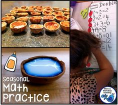 Make seasonal math manipulatives and other math ideas for doubles.