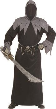 Boys Skull Warlord Costume Outfit for Grim Reaper Death Halloween Fancy  Dress 5b44f370ff6a