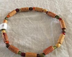 Brown green Earthy Wood and jasper stone Beaded stretch bracelet, birthday gift, anklet, summer beads, handmade, men, woman,  Holiday by dawnsbeadsdesigns. Explore more products on http://dawnsbeadsdesigns.etsy.com