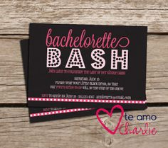 Bachelorette Party Invitations with Matching by TeAmoCharlie, $20.00