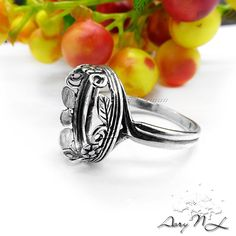 1pcs 925 Sterling Silver Ring Setting Twigs and Flowers by AoryNL