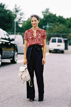 #street #style #fashion New York Fashion Week SS 2015....Before Alexander Wang