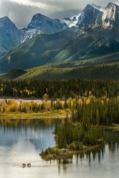 Bow River, Banff national park, Canada