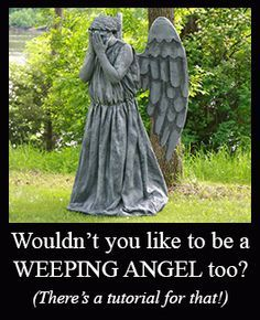 How to Make Weeping Angel Costumes – Costuming Tutorial Weeping Angel Costume Tutorial.but seems very time consuming. Using some advice for my hallowe'en costume. Halloween 2017, Holidays Halloween, Halloween Themes, Halloween Makeup, Halloween Party, Halloween Decorations, Halloween Costumes, Halloween Tricks, Halloween Photos