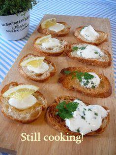 フランスパンでカナッペ   美肌レシピ