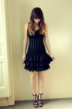 Blanca suarez black dress