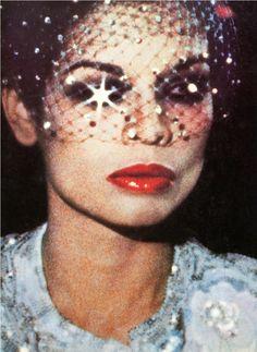 Bianca Jagger, Vogue UK, 1974 // Veils.