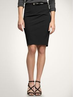 The classy basic black pencil skirt - a staple I still need to add to my wardrobe. #Gap