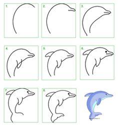 stappenplan hoe teken ik een dolfijn - Google zoeken