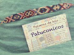 Pulseras patuconicos de Macrame hecha a mano en España. precio 6€ más gastos de envío