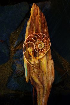 Rhythm in the Universe Woman and Spiral Driftwood by ShapingSpirit, $600.00
