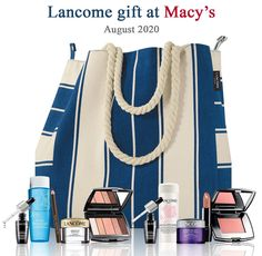 With any $37.50 Lancome purchase choose your 6-pc Lancome gift at Macy's. Plus, get more when you spend more. Up to an 11-piece Lancome gift. Lancome Gift Set, Lancome Gift With Purchase, 50th, Nordstrom, Best Deals, Gifts, Free, Presents, Favors