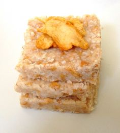 Raw Apple Coconut Bars