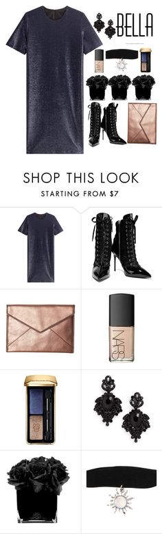 """Untitled #123"" by emelie-mely on Polyvore featuring Jil Sander, Giuseppe Zanotti, Rebecca Minkoff, NARS Cosmetics, Guerlain, Tasha and Hervé Gambs"