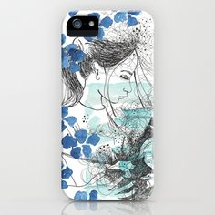 Blooming girl iPhone & iPod Case by Dreamy Me