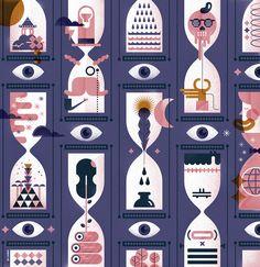 Principia magazine: Artículo sobre como afecta el tiempo a los creadores // Time, a historical view and his influence on creators  Illustration by Del Hambre www.delhambre.com  https://www.behance.net/gallery/36379301/PRINCIPIA-MAG-Time-history