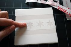 making your own coasters | How to make your own coasters with ceramic tiles and etching cream