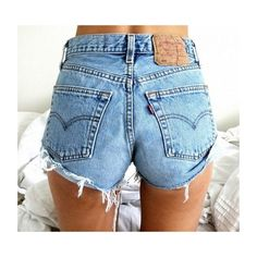 Levi's 501 High Waisted Vintage Denim Shorts Frayed and Distressed... ($36) ❤ liked on Polyvore featuring shorts, grey, women's clothing, high rise denim shorts, high waisted shorts, distressed high waisted shorts, high-waisted shorts and ripped jean shorts