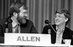 After convincing high-school friend Bill Gates to drop out of college and start a software company called Micro-Soft, Allen helped change the world. Bill Gates Steve Jobs, Steve Wozniak, Apple Ii, Make A Proposal, Software, New Beginning Quotes, Friendship Day Quotes, Long Time Friends, Old Computers