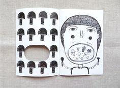EAT YOUR MUSHROOM // ZINE by Shanlyn Chew, via Behance