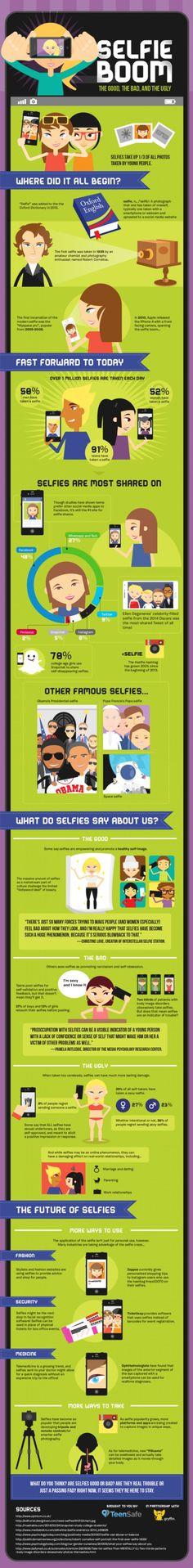 Lo bueno, lo malo y lo feo del #Selfie  #infografia