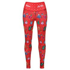 Men Little Miss *Limited Edition* Red Christmas Leggings Mr Men Little Miss, Christmas Leggings, Iconic Characters, Festival Wear, Red Christmas, Active Wear, Pajama Pants, Legs, Festive
