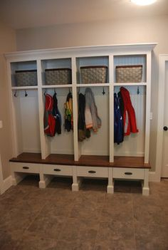 Mud rooms - traditional - laundry room - vancouver - Out Of Line Designs