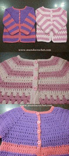 Como tejer un saco, campera, cardigan o chambrita a crochet o ganchillo desde el canesu49