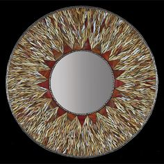 Sunburst Mirror by Michael Solomon: Art Glass Mirror available at www.artfulhome.com