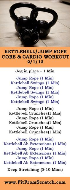 Kettlebell Jump Rope Core and Cardio Workout | Posted by: NewHowtoLoseBellyFat.com