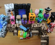 Minecraft perler beads by  shena_1983 • 37 likes