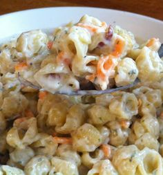 Homemade Suddenly Salad: Ranch and Bacon Pasta Salad from Where the walnut trees grow blog