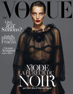 Daria Werbowy covers the Vogue Paris September issue {2012}