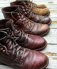 ✸This Old Stomping Ground✸ Mens Boots Fashion, Big Men Fashion, Leather Men, Leather Shoes, Men's Shoes, Shoe Boots, Wing Shoes, Jamel, Red Wing Boots