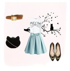 """""""the cat's meow"""" by katsavy on Polyvore featuring Miss Selfridge, Chicwish, Kate Spade, Gucci and New Look"""