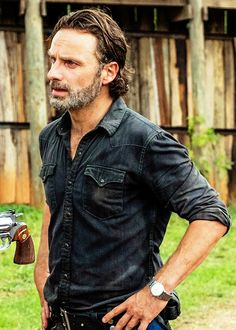 Norman finds Rick's Colt Python at the sanctuary