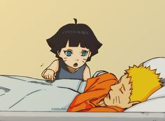 Himawari and Naruto