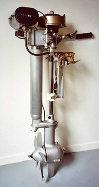 "British Seagull outboard motor ""the best for the world"" http://www.seagullrestoration.co.nz/images/seagullengine4.jpg"