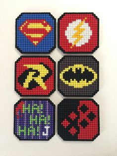 8bit DC Comics Justice League or Batman Themed Coaster 4 or 6